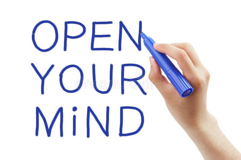 Abra sua mente fotografia de stock