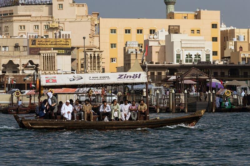 Abra Taxi bei Dubai Creek lizenzfreies stockfoto