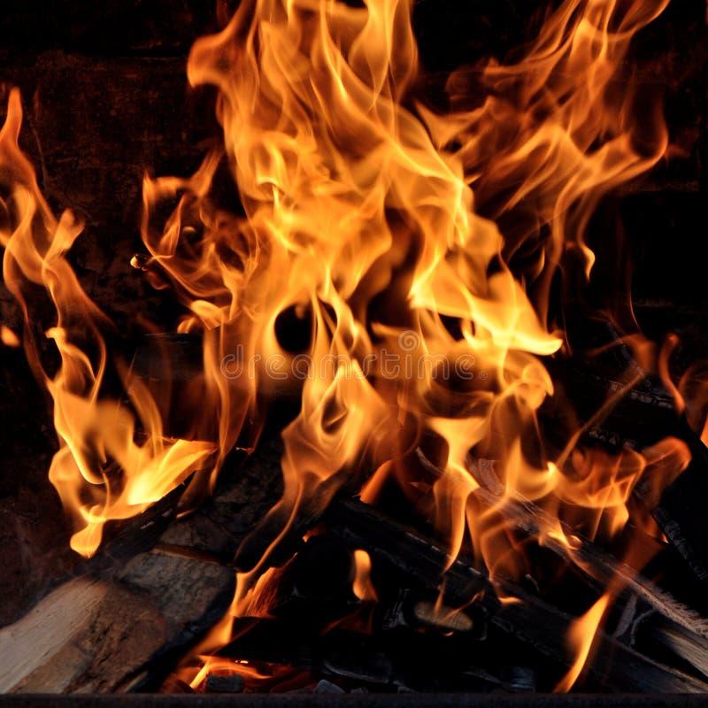 Abra una sesión un fuego fotografía de archivo