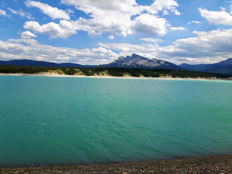Abraham湖 免版税库存图片