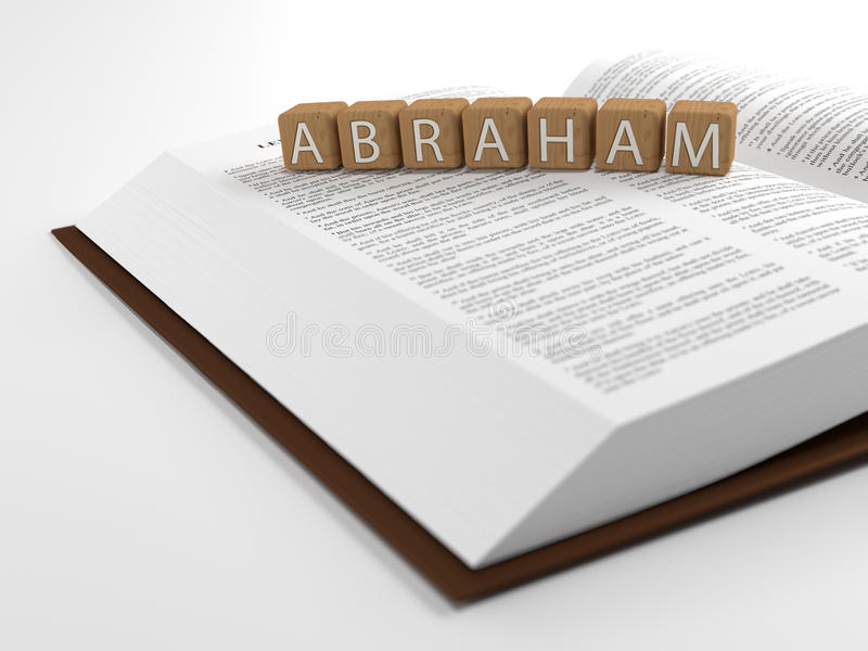 Abraham et la bible illustration de vecteur