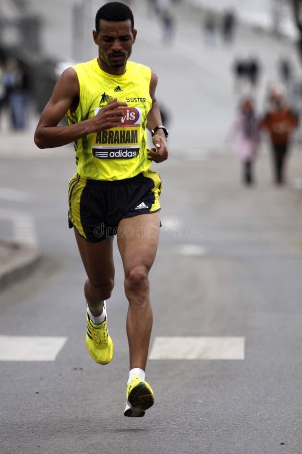abraham half maratonprague tadesse fotografering för bildbyråer