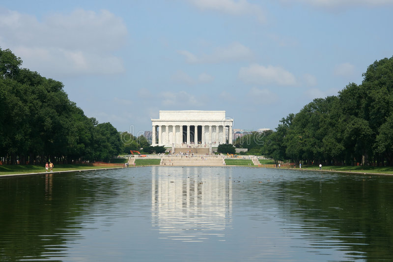 Abraham Lincoln纪念碑 库存照片
