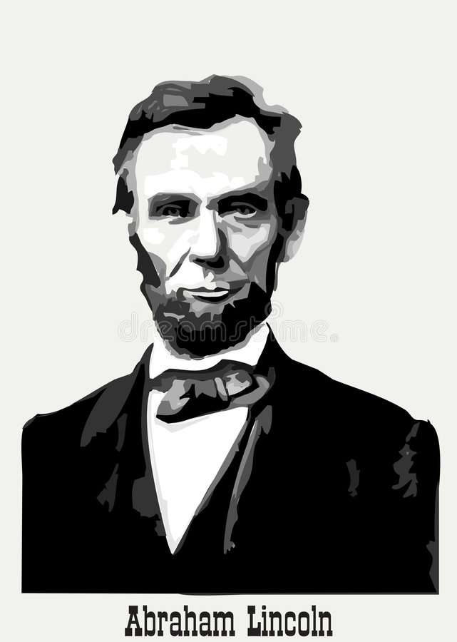 Abraham Lincoln纵向 库存例证