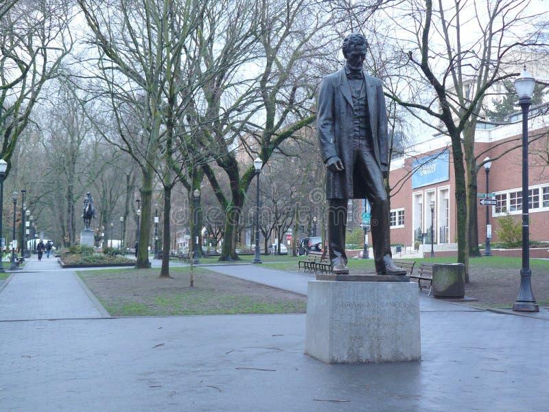 Abraham Lincoln στο Πόρτλαντ, Όρεγκον, ΗΠΑ στοκ φωτογραφία