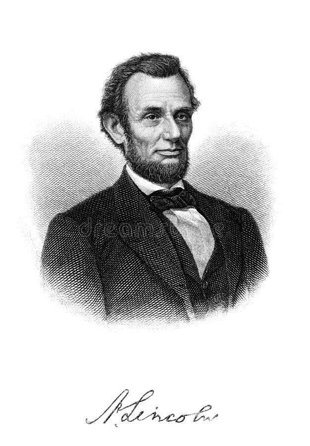 Abraham Lincoln royaltyfri illustrationer