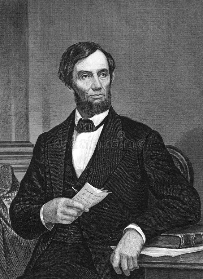Abraham Lincoln 库存照片