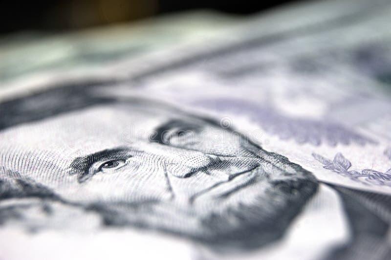 Abraham Lincoln - $5 Bill photographie stock libre de droits
