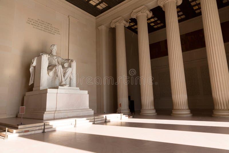 Abraham Lincoln budynku Pamiątkowy washington dc zdjęcie royalty free