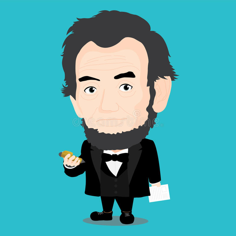 Abraham Lincoln Character stock illustrationer