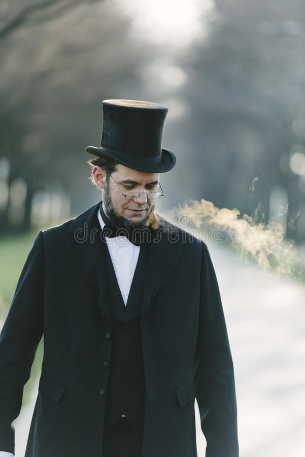 Abraham Lincoln Character Portrait At The National Mall stock photography