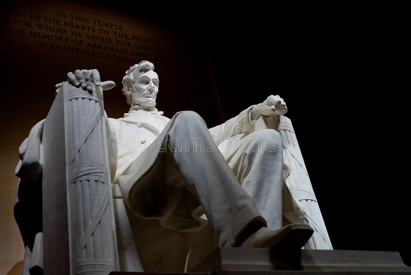 Abraham Lincoln commémoratif photo stock