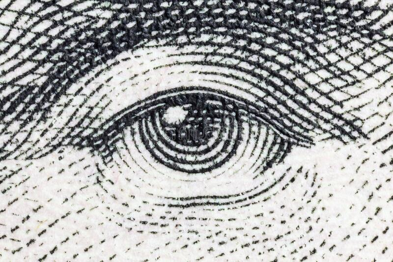 Abraham Lincoln Eye immagini stock