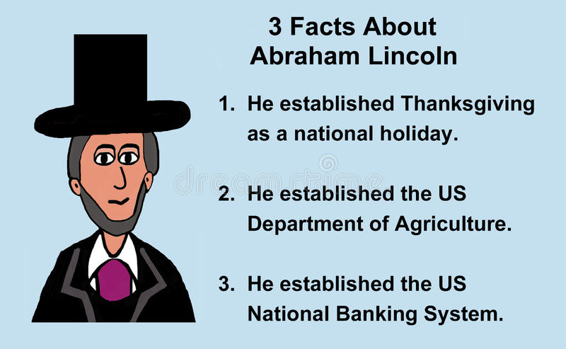 Abraham Lincoln Facts vektor illustrationer