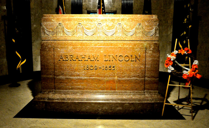 Abraham Lincoln Gravestone images stock