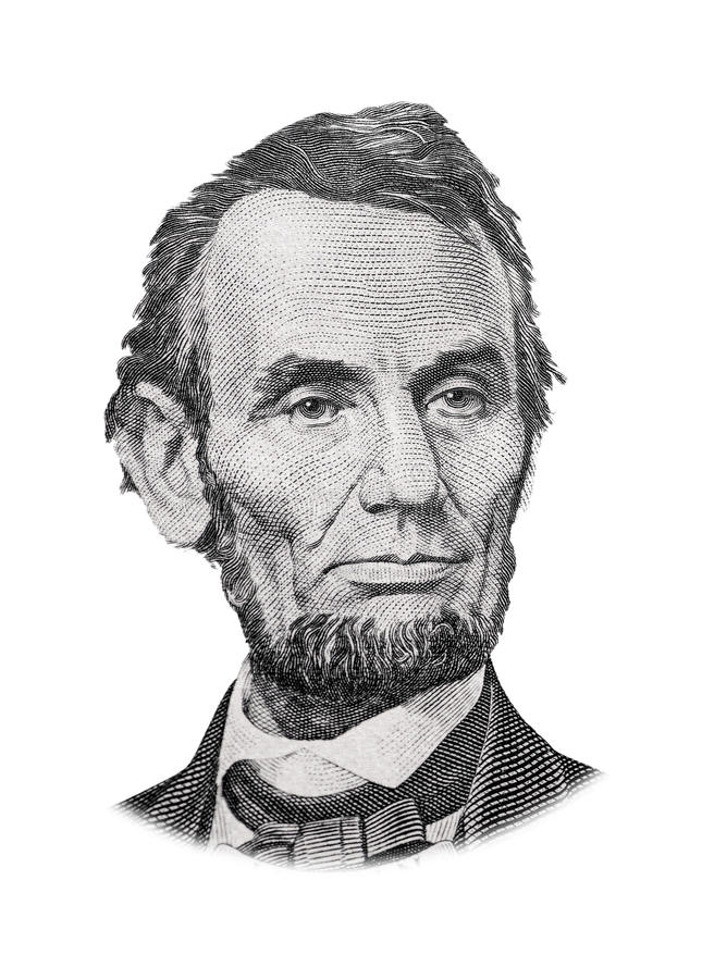 Abraham Lincoln. Grayscale Drawing of US President Abraham Lincoln