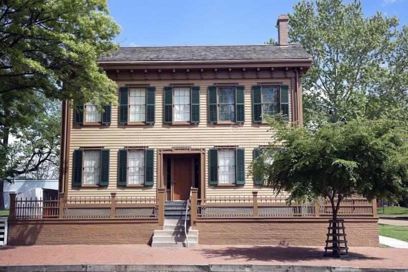 Abraham Lincoln Haus lizenzfreie stockfotos