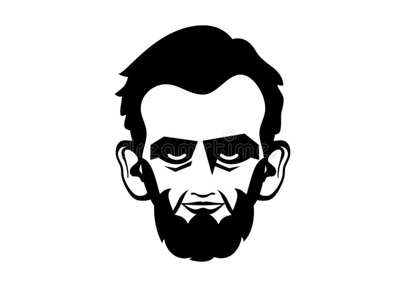 Abraham Lincoln head vector royalty free stock photos