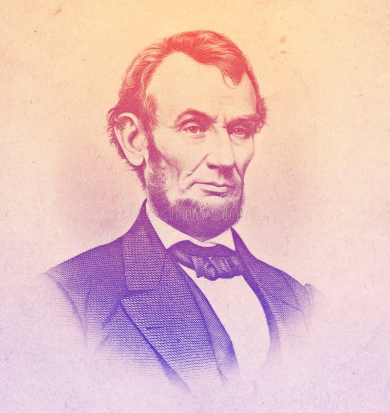 Abraham Lincoln inristade illustrationen vektor illustrationer