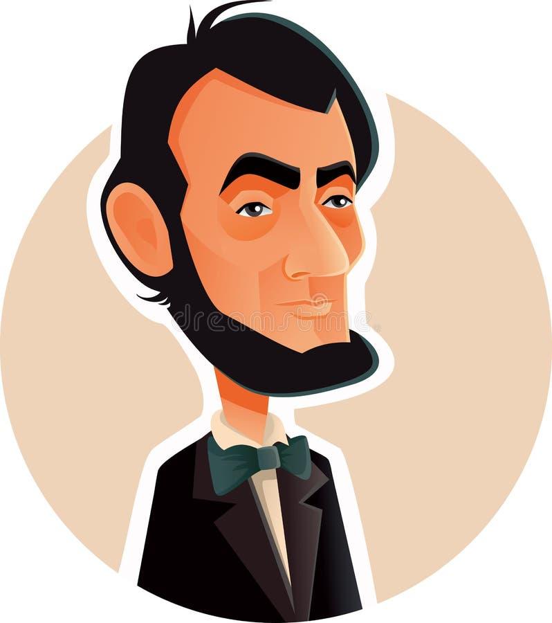 Abraham Lincoln karykatury Wektorowa ilustracja royalty ilustracja