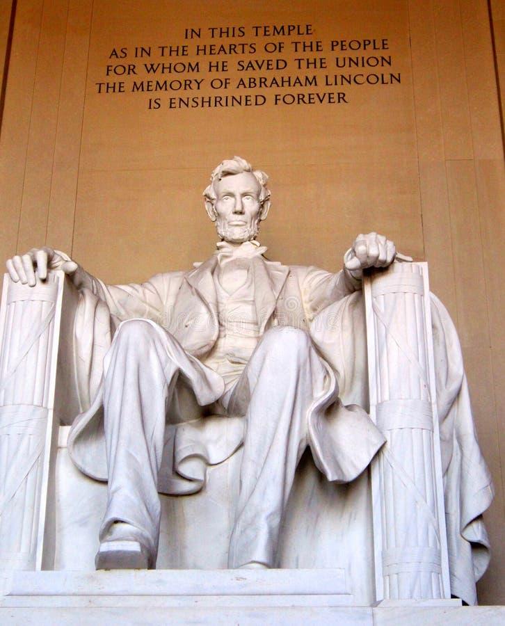 Abraham Lincoln Memorial imagem de stock