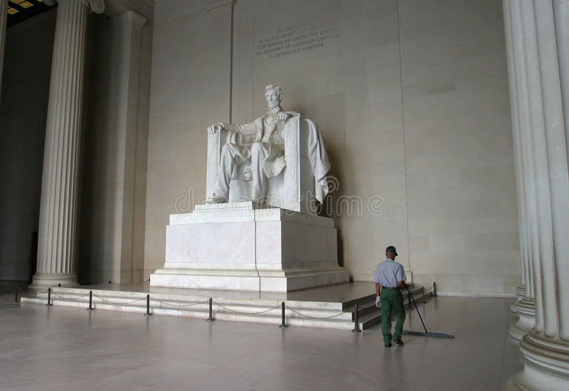 Abraham Lincoln Memorial Obrazy Royalty Free
