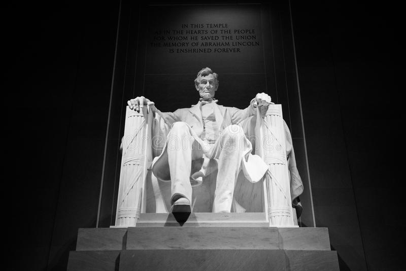 Abraham Lincoln Memorial Bold Black y blanco imagenes de archivo
