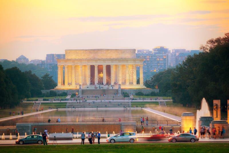 Abraham Lincoln memorial in Washington, DC stock image