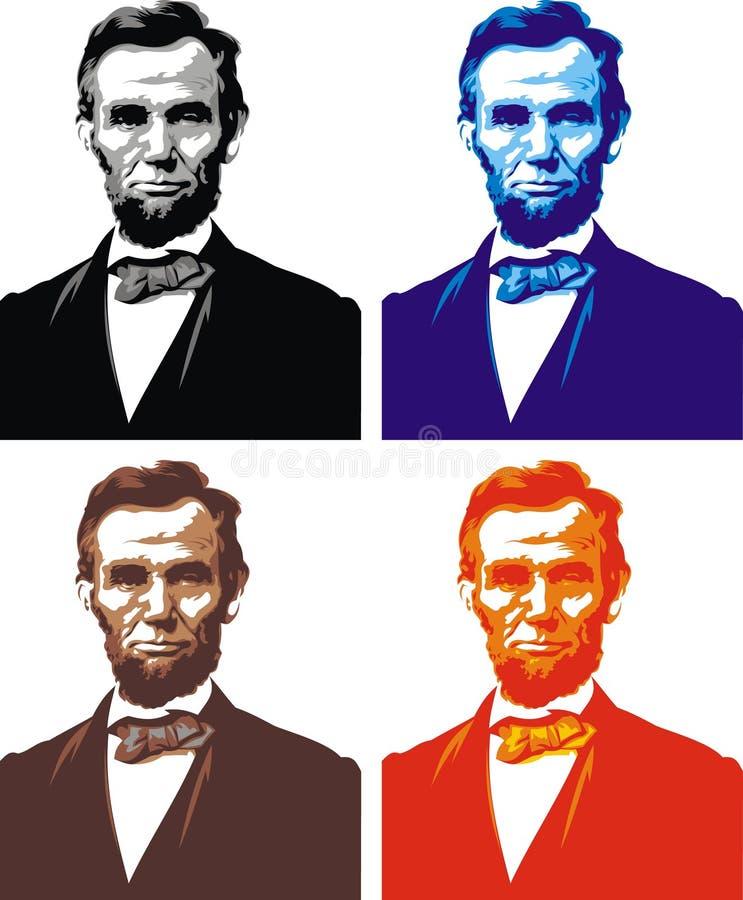 Abraham Lincoln - minha caricatura ilustração royalty free