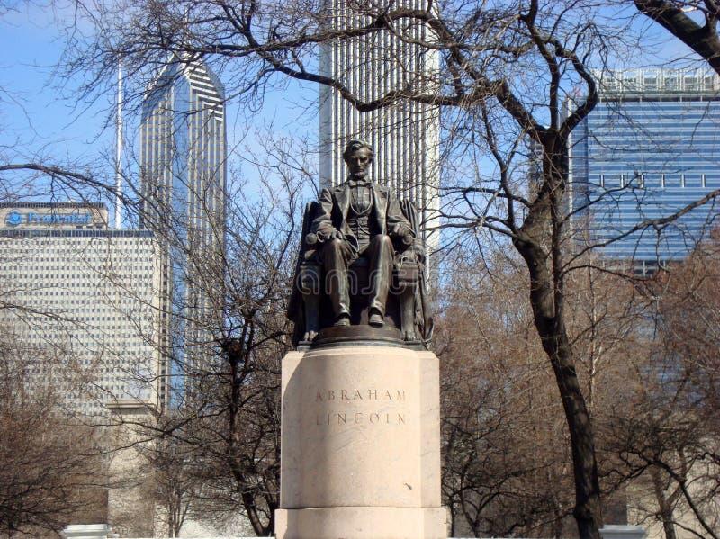 Abraham Lincoln Monument Grant Park Chicago arkivbild