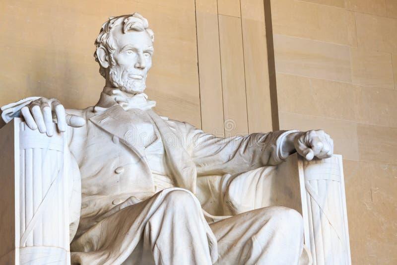 Abraham Lincoln monument in Washington. DC stock photo
