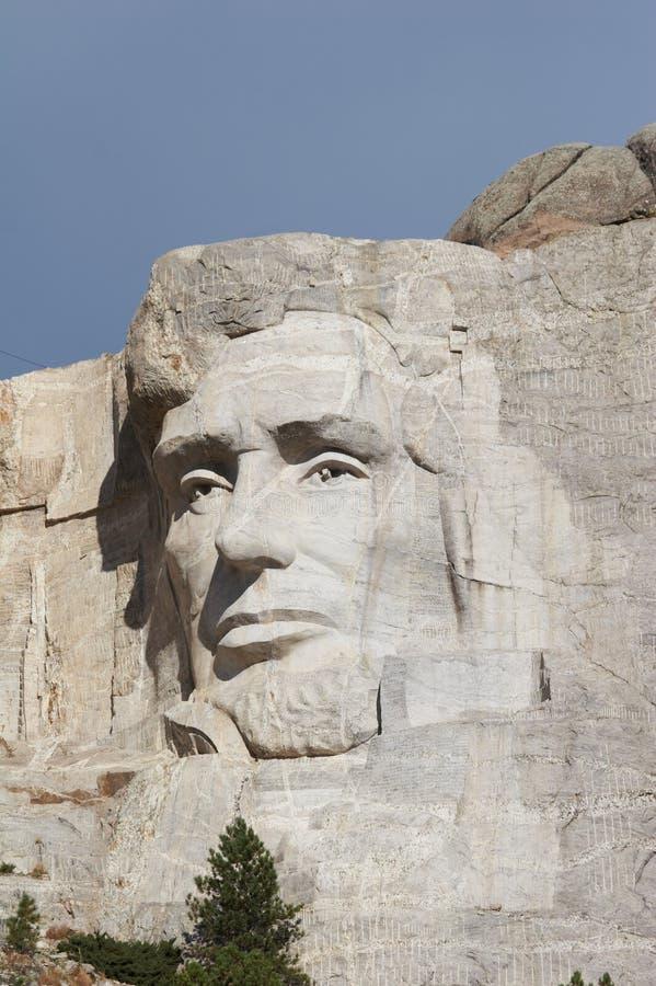 Abraham Lincoln - monumento nacional del rushmore del montaje foto de archivo libre de regalías