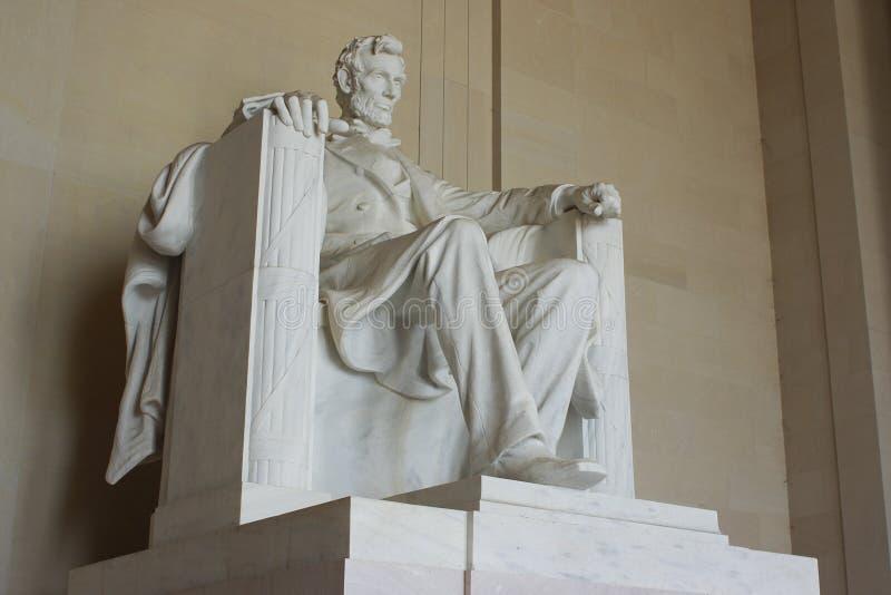 Abraham Lincoln pomnik w washington dc Stany Zjednoczone obraz royalty free
