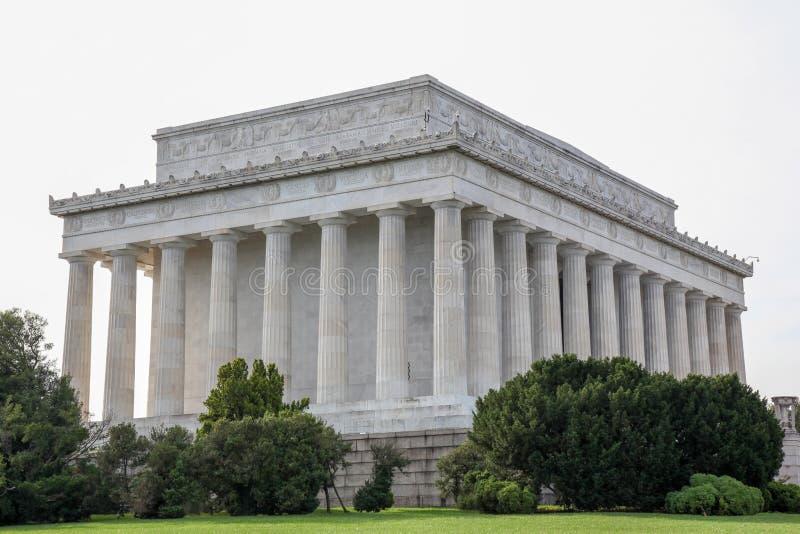 Abraham Lincoln pomnik, washington dc - usa fotografia stock
