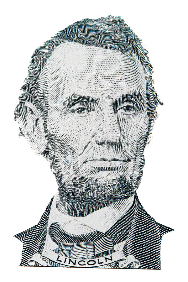 Download Abraham Lincoln portrait stock image. Image of dollar - 22331183