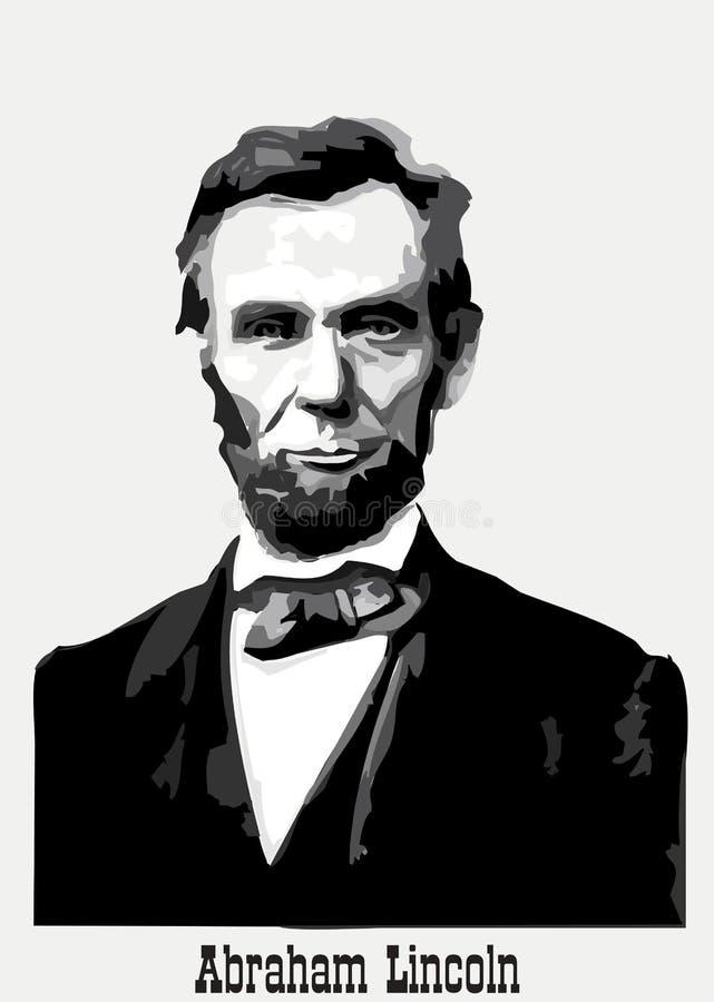 abraham Lincoln portret ilustracji