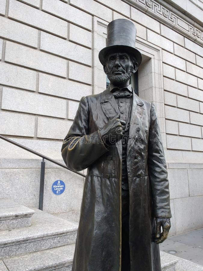 Abraham Lincoln, sociedad histórica de Nueva York, NYC, NY, los E.E.U.U. imagenes de archivo