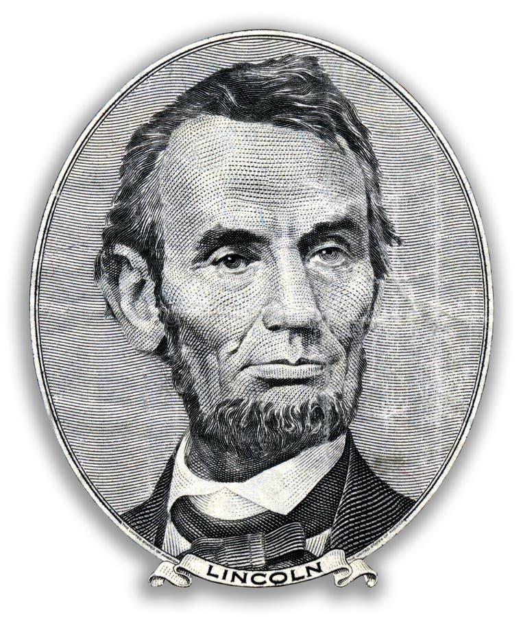 Abraham Lincoln stående stock illustrationer