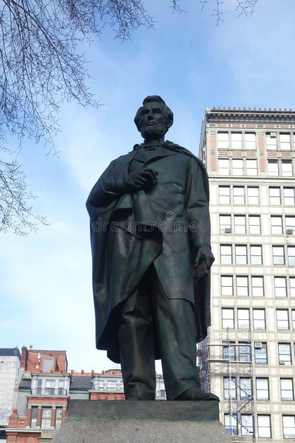 Abraham Lincoln Statue arkivfoto