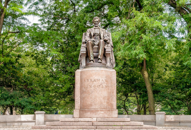 Abraham Lincoln Statue in Grant Park, Chicago stock photos