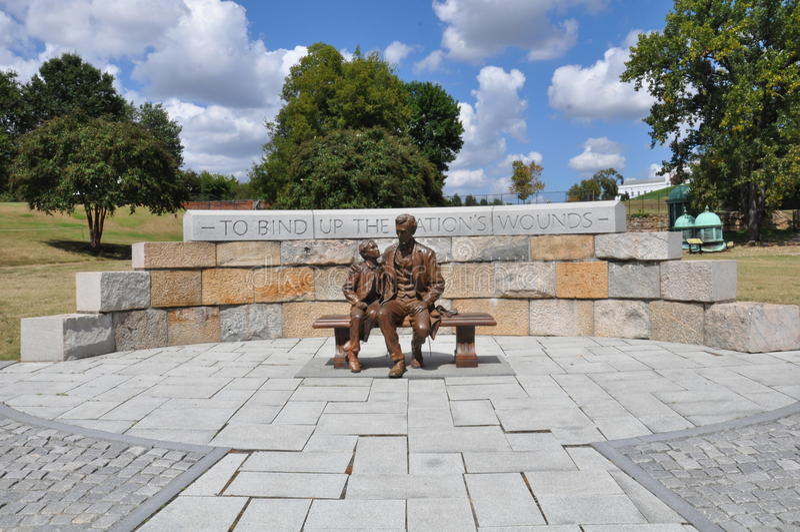 Abraham Lincoln-Statue in Richmond, Virginia stockbilder