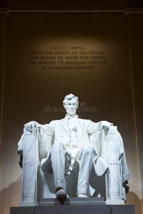 Abraham Lincoln staty arkivfoto
