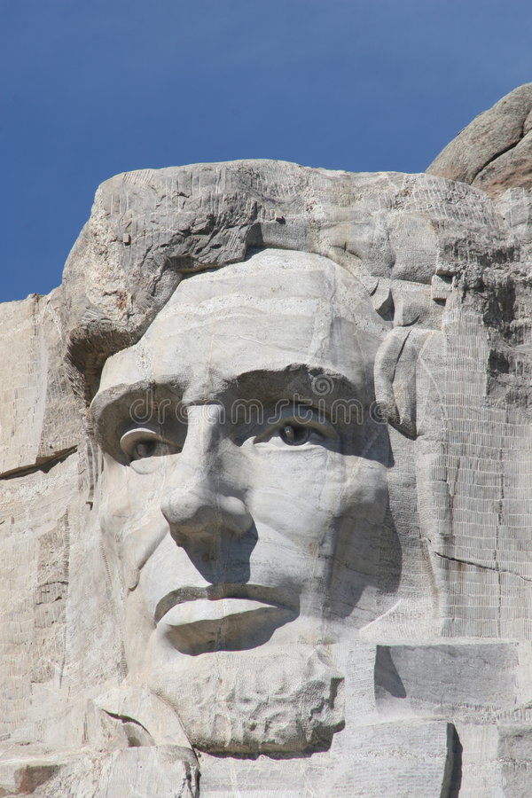 Abraham Lincoln sur le support Rushmore images stock