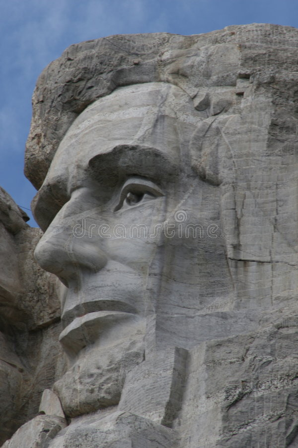Abraham Lincoln sur le support Rushmore photo stock