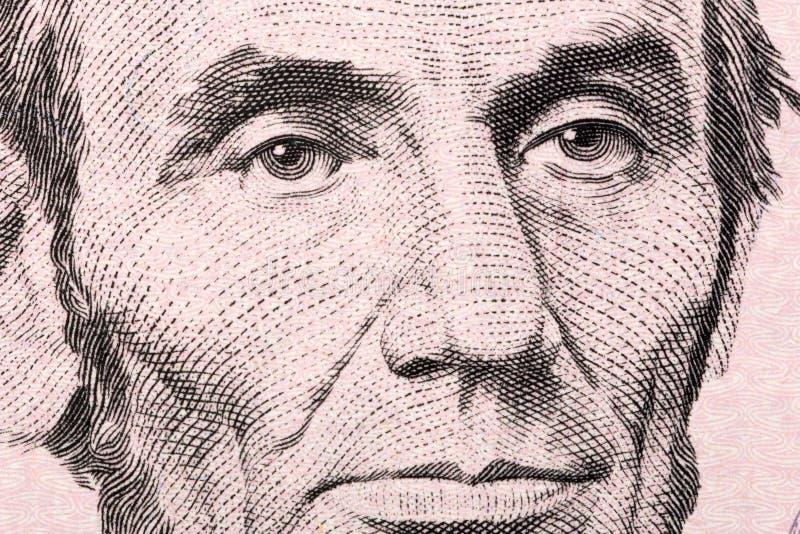 Abraham Lincoln un portrait en gros plan photographie stock libre de droits