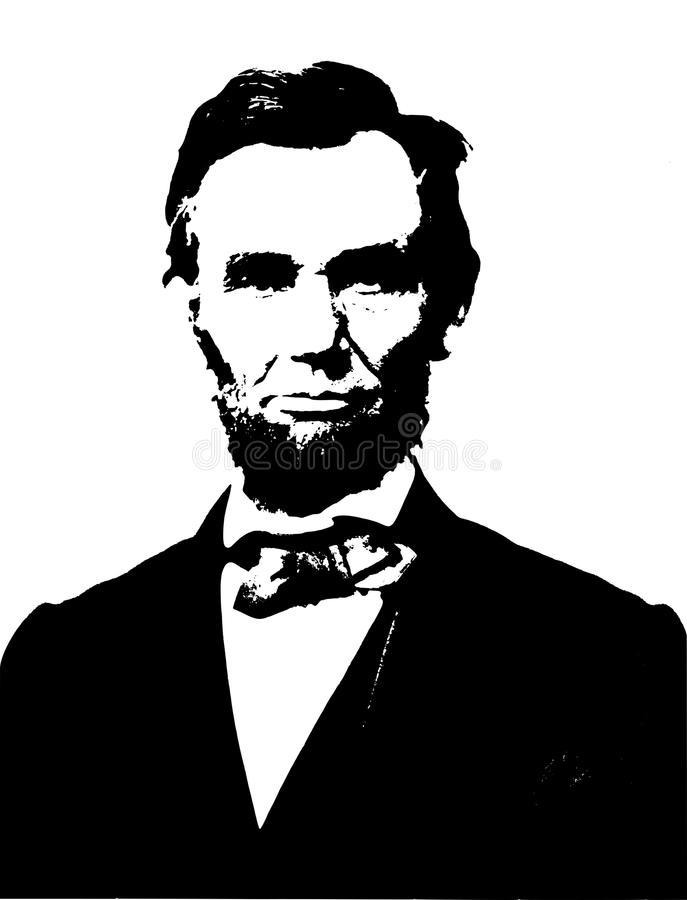 Abraham Lincoln stock illustration