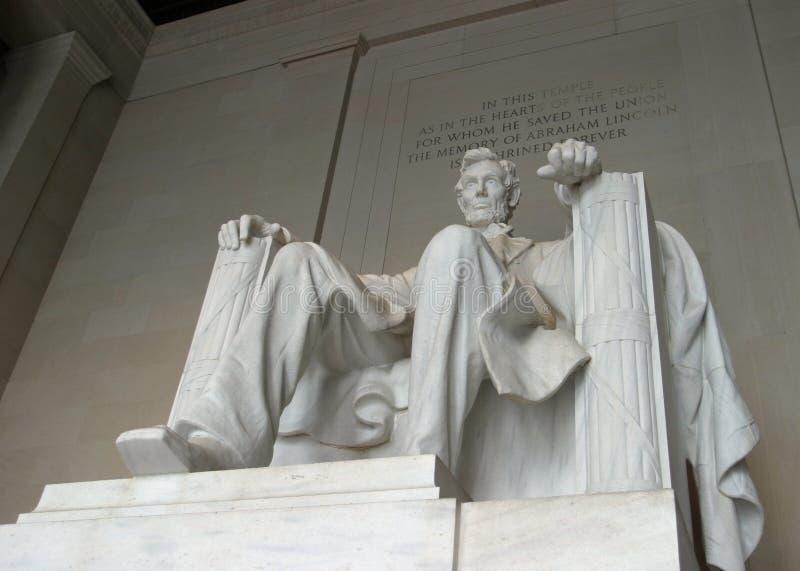 Abraham- Lincolndenkmal stockbilder