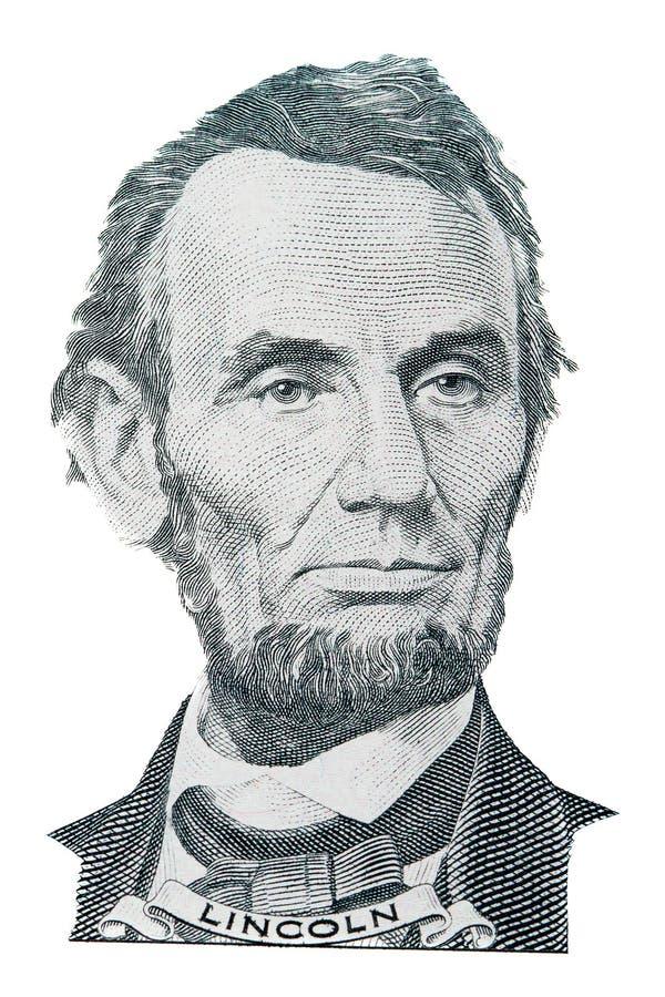 Abraham- Lincolnportrait stockfotos