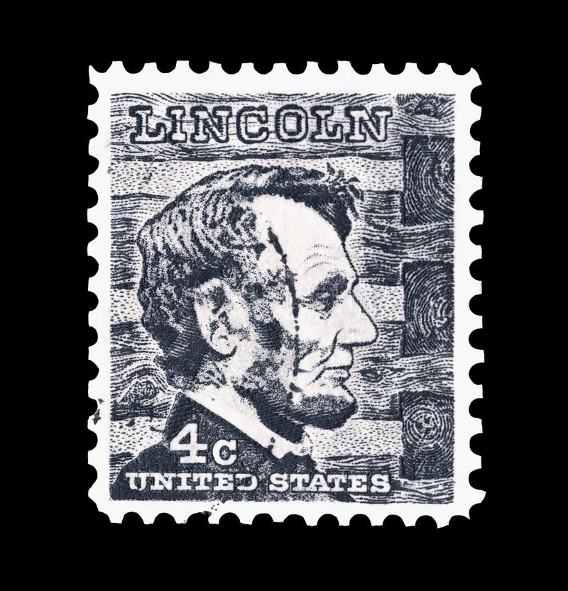 Abraham- Lincolnstempel lizenzfreie stockfotos