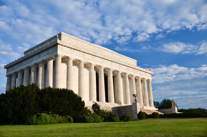 Abraham Pomnik Lincoln, DC Waszyngtoński USA zdjęcie royalty free